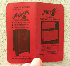 1947-48 Majestic Coal-Wood-Gas Ranges, Stoves, Heaters Advertising Booklet