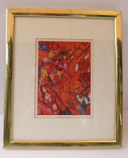 "Vintage  ""THE RED CIRCUS, "" by MARC CHAGALL COLOR Art Lithograph~framed"