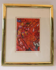 """Vintage  """"THE RED CIRCUS, """" by MARC CHAGALL COLOR Art Lithograph~framed"""