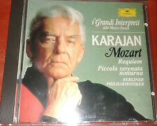 "KARAJAN "" MOZART ( CD ) REQUIEM "" PICCOLA SERENATA NOTTURNA "" Berliner Philhar"