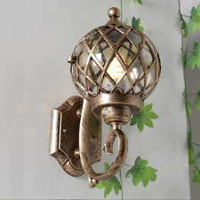 Court Retro Outdoor Wall Lantern Outside Light Security Exterior Lamp Ball Light