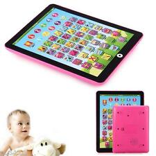 Kids Children English Learning Pad Toy Educational Computer Tablet Pink
