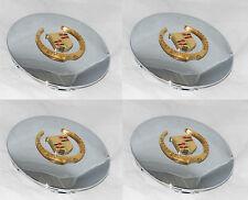 (4) MC2 CADILLAC ELDORADO DEVILLE DTS SEVILLE 87-4522 WHEEL RIM GOLD CENTER CAP