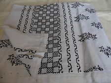 Traditional Indian Hand Block Floral  Printed 100% Cotton Queen Sheet1325