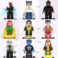 9ps X-MEN Wolverine Rogue Storm Cyclops Phoenix Nightcrawler Colossus Lego