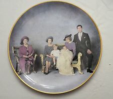 "Royal Family Princess Diana ""Four Generations"" Crown Winsor China Dinner Plate"