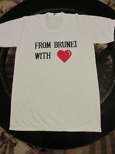 """""""FROM BRUNEI WITH LOVE"""" SportSHIRT XG Via LBC Airlines MABUHAY Women's XL"""