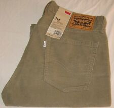 LEVI'S 514 Straight Fit Corduroy Pants -Men's 36 X 34 Timberwolf (Tan Khaki) NWT