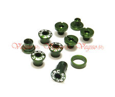 NEW KCNC AL7075 CRANK CHAINRING BOLTS SCREWS FOR CAMPAGNOLO CAMPY, GREEN