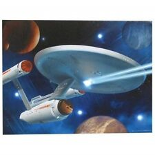 Star Trek Classic TV Enterprise 12 x 16 Lighted Stretched Canvas Wall Art, NEW