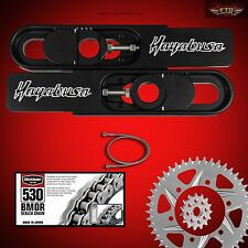 Hayabusa Swingarm Extension Kit, Vortex Sprockets, 530-150  Chain, Brake line