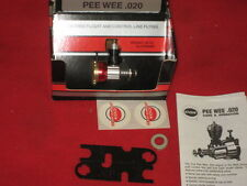 NEW VINTAGE COX PEE WEE 020 NITRO MODEL AIRPLANE ENGINE wBOX RED TANK