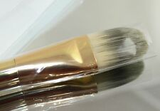 Estee Lauder Foundation Brush Smooth Finish Application Gold Tone NEW IN COVER