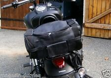 HOT ! Sissy bar bag Solid soft leather NEW for custom motorcycle harley style !