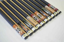 "SET OF 10 POOL CUES New 58"" Canadian Maple Billiard Pool Cue Stick #5 PLUS SHIP"