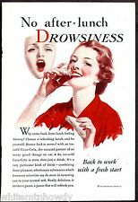 1933 COCA-COLA No after lunch drowsiness w/ Coke AD