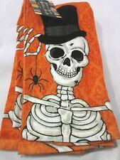 Ritz NEW Halloween Skeleton Orange Kitchen Towels Set of 2