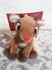 VHTF Hallmark 2014 Rudolph the Red Nosed Reindeer Plush Ornament NWTs 50th Anniv