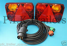 FREE P&P* 2 x Pre-Wired Radex 6400 Rear Trailer Lamps & 4 metre Harness LH & RH