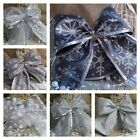 Large Wired Ribbon Christmas Bow Decoration For Tree, Wreath, Garland