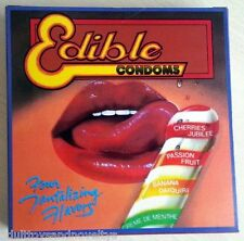 EDIBLE CONDOMS LIKE EDIBLE UNDERWEAR ASSORTED FLAVORS AND SHAPES
