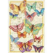 Gold Collection Butterfly Beauty Counted Cross Stitch Kit-10 Inch  088677353384