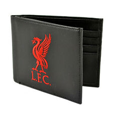 Official Licensed Football Club Liverpool Crest Wallet Black Embroidered Gift