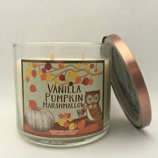 1 Bath & Body Works VANILLA PUMPKIN MARSHMALLOW 3 Wick Scented Candle 14.5 oz