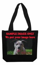 Black Cotton Bags with your custom image and or text on it.