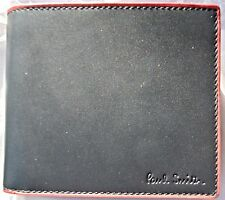 NWT Rare Paul Smith Men's Black Leather Billfold and Coin Wallet