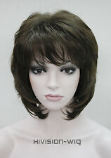 8 colors Short Curly Women Ladies Hair Daily wig Natural Hivision #L-1943A