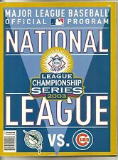 Chicago Cubs 2003 MLB Official Program NLCS National League Championship Series