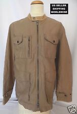 $948 John Varvatos Grey Label Cotton&Linen w/Leather Accents Jacket MakeAnOffer!