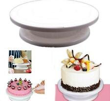 Delicate Round Rotating Revolving Cake Turntable Decor Stand Platform Tools - SS