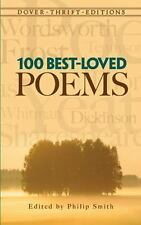 100 Best-Loved Poems (Dover Thrift Editions) Philip Smith Paperback