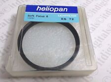 Heliopan 72mm Soft Focus 0 #0  Effect Lens Filter Germany ES72 707256 Softer