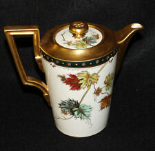 Pickard Autumn Leaves Decorated Chocolate Pot Artist Signed