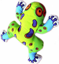 """New, Fat Cat Crackler Dog Toy Series """"Frog"""" Durable Chew & Squeaker Dog Toy."""