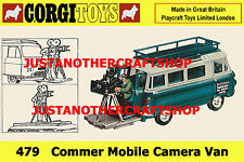 Corgi Toys 479 Commer Mobile Camera Van 1967 A3 Size Poster Leaflet Shop Sign