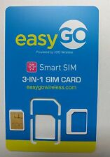 EasyGo PREPAID 4GLTE Prepaid Smart Sim Card on AT&T Network. FOR ONLY $20/MONTH