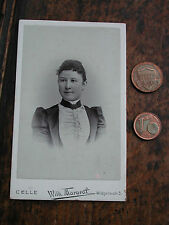 Antigüedades fotos CDV 6,3x10,4 cm joven mujer Celle carte de visita Original Vintage