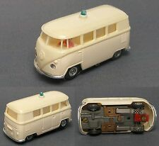 1960s Faller Germany VW Volkswagon Micro Bus Ambulance H.O. Slot Car Incredible!