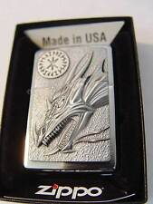 Zippo ® Dragon with Amulet Drache Neu / New OVP