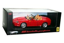 FERRARI 550 BARCHETTA PININFARINA RED DIE CAST 1/18 BY HOT WHEELS ELITE N2054