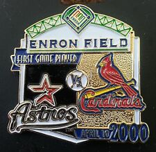 HOUSTON ASTROS vs ST. LOUIS CARDINALS First Game Played ENRON FIELD Lapel Pin