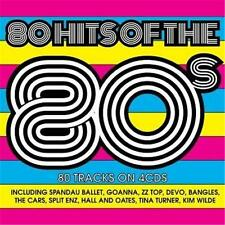 80 HITS OF THE 80s VARIOUS ARTISTS 4 CD DIGIPAK NEW