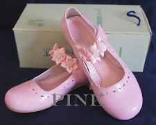 G312 Flower Girl/Party DRESS SHOES Shiny PINK Sz 6 Wedding/Formal Event