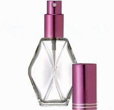 3 Refillable Perfume Spray Empty Glass Bottle Atomizer Pump 1 OZ Purple Diamond