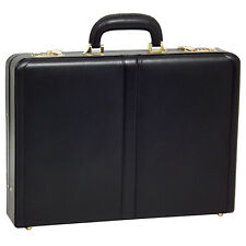 McKlein Reagan Full Grain Oil Tanned Leather Attache Case #80445 Black