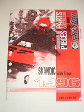 SKIDOO 1996 PARTS CATALOG  MANUAL  SKANDIC WIDE TRACK